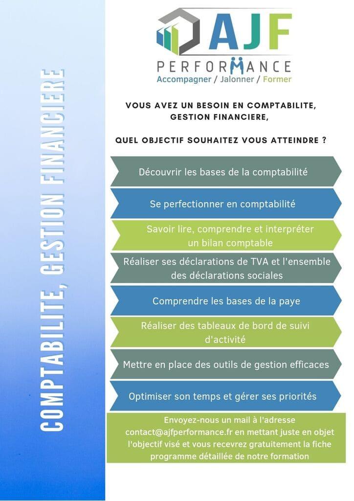 FORMATION COMPTABILITE, GESTION FINANCIERE - AJF PERFORMANCE